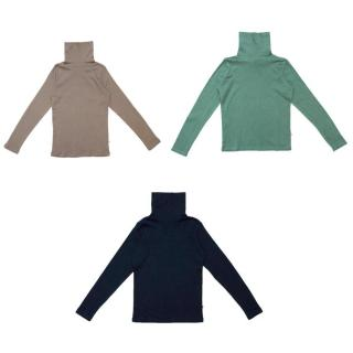 Bonpoint Girls Brown, Green, and Navy Turtlenecks