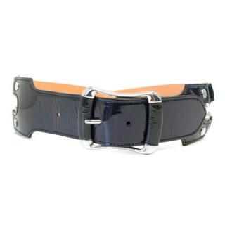 Tod's Navy Leather Belt