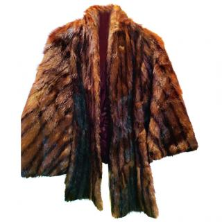 Saks Fifth Avenue Mink Cape