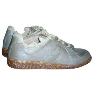 Maison Martin Margiela Men's Silver Sneakers