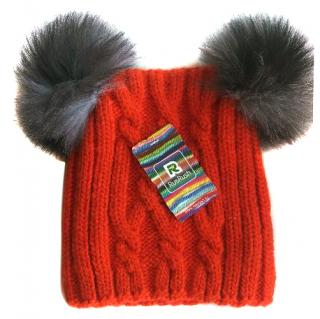Russian fur pom pom hat