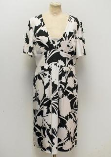Temperley 'Anima' Black and White Print Silk Dress