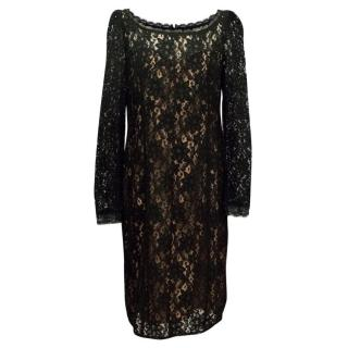 Alice by Temperley Black Lace Dress