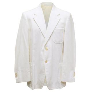Yves Saint Laurent White Corduroy Jacket
