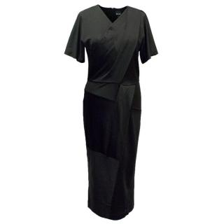 Just Cavalli Black Wrap Dress