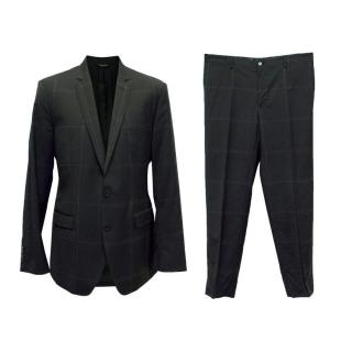 Dolce and Gabbana Black Two Piece Suit