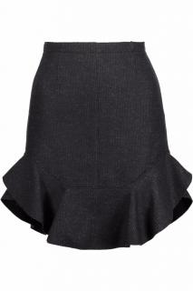 Isabel Marant midnight blue and light gray striped skirt