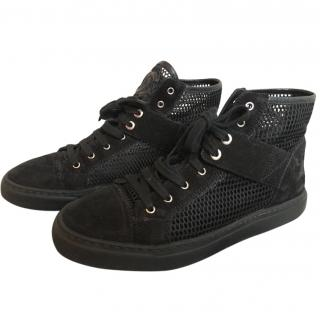 Chanel Mesh High Top Sneakers