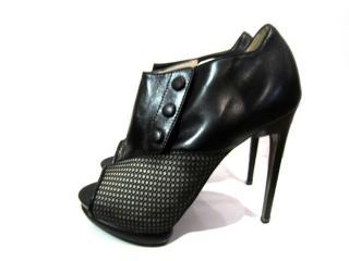 Nicholas Kirkwood Mesh-Panelled leather ankle boots