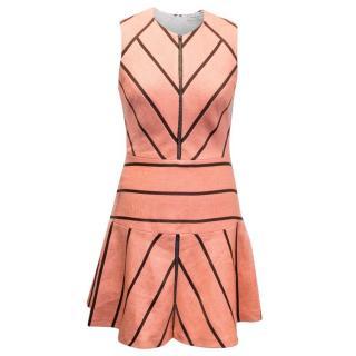 Sandro Pink Rappery Striped Dress