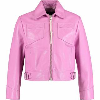 COACH Pink Leather Biker acket