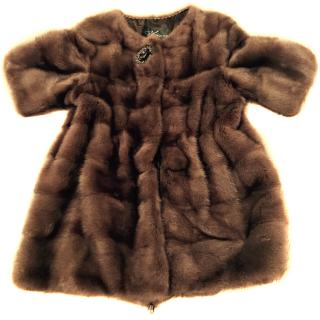 Luxury Irina's Russian real fur Mink coat/ Jacket s 8-10
