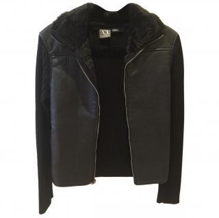 Armani Exchange Men's Sheepskin Jacket