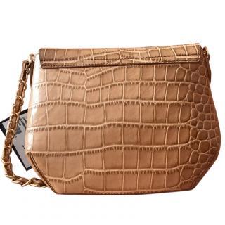 Love Moschino Mock Croc Shoulder Bag