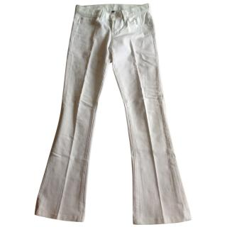 Ralph Lauren White Bootcut Jeans