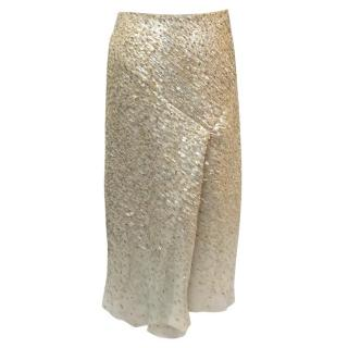 Jason Wu Gold and Silver Sequined Skirt
