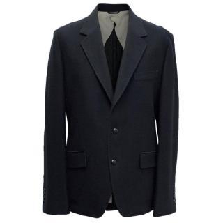 Dolce & Gabbana Navy Wool Blend Blazer