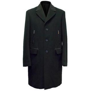 Alexander McQueen Black Men's Overcoat