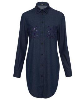 Markus Lupfer Dhalia Jewel Stone Shirt Dress