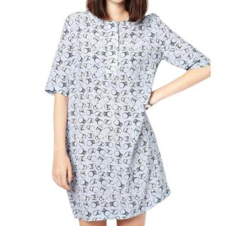Markus Lupfer Diamond Ring Print Dress