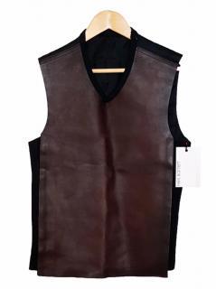 New Neil Barrett Leather Waistcoat