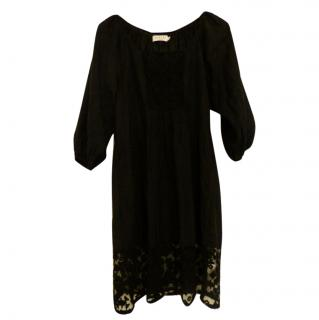 Velvet by Graham and Spencer Black smock dress