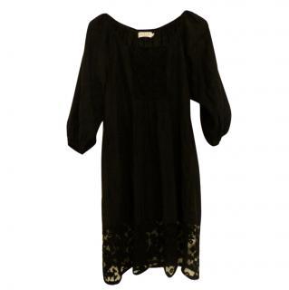 Velvet by Graham and Spencer Black smock dress