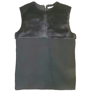CELINE Black Alpaca/ Wool Top