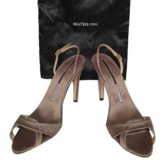 Beatrix Ong Chestnut Slingback Sandals