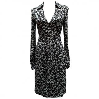 Diane Von Furstenberg Vintage Wrap Silk Dress.