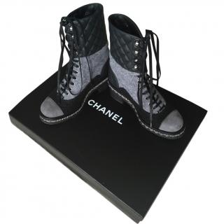 Chanel Ankle Lace Up Boots