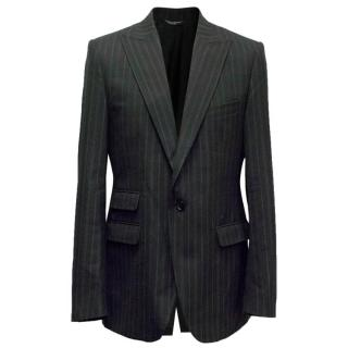 Dolce and Gabbana Stripe Suit Jacket