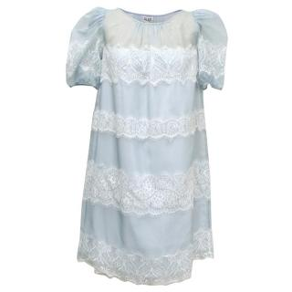 Alice by Temperley Pale Blue 'Mini Fox' Dress