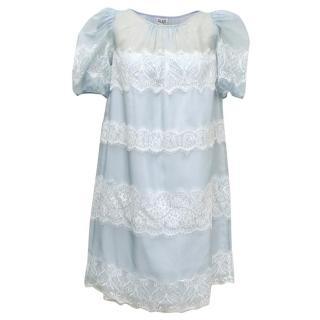 Alice by Temperley Pale Blue 'Mini Fox' Dress