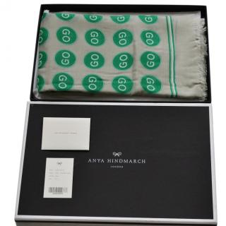 Anya Hindmarch Large 'Go' Modal-Cashmere Scarf