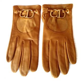 Dior leather gloves with logo CD