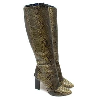 Reed Krakoff Python Skin Boots