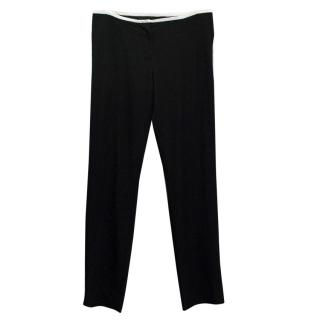 Reed Krakoff Black Trousers with White Trim