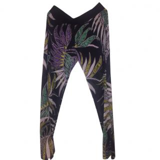 Just Cavalli Sheer Print Silk trousers