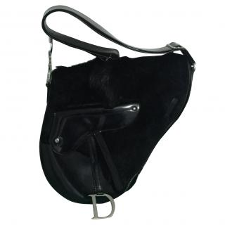Christian Dior Saddle-Bag with Horse Hair features