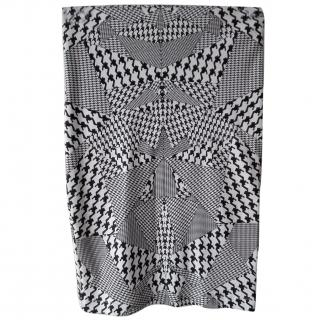 McQ by Alexander McQueen Black and White Pencil Skirt