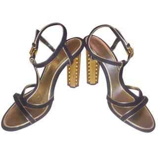 Chanel Strappy Heel Sandals