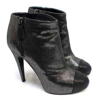 Chanel Metallic Ankle Boots
