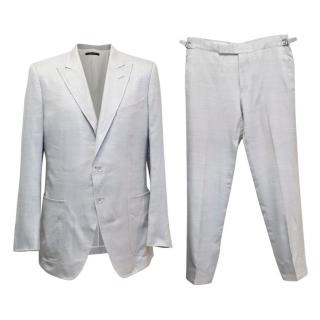 Tom Ford Light Grey Two Piece Silk Suit
