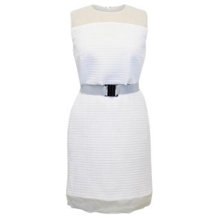 Victoria Beckham White Quilted Organza Dress