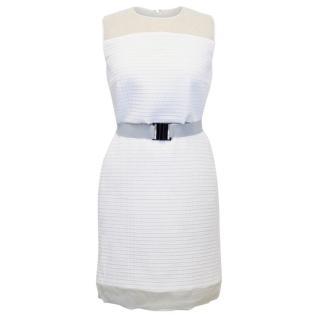 Victoria Beckham White Quilted Organza Dress