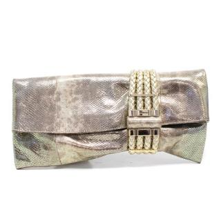 Jimmy Choo Metallic Gold 'Chandra' Clutch