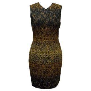 Missoni Black and Gold V-Neck Dress