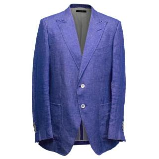 Tom Ford Cobalt Blue Woven Blazer