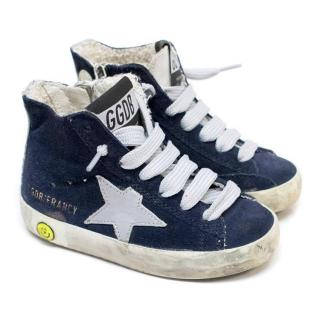 Golden Goose Kid's Distressed High-Top Sneakers